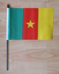 Cameroon Country Hand Flag - Medium.